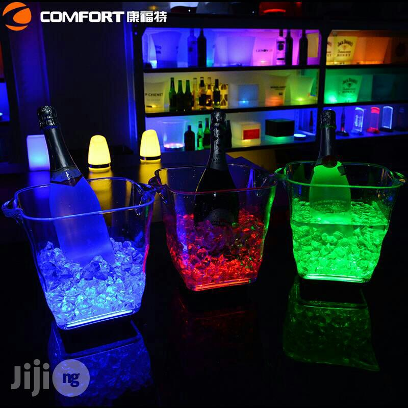 LED Light Rechargeable Champagne Bucket