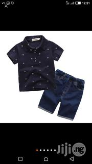Short Sleeve Polo Top With Short Jean Trouser | Clothing for sale in Lagos State, Surulere