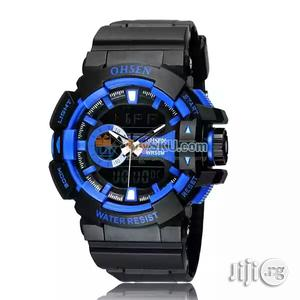 Ohsen AD1505 Waterproof Dual Time Display Led Digital | Watches for sale in Lagos State