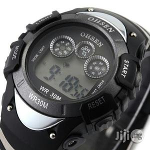Ohsen Men's Waterproof Digital LCD Alarm Sport Watch | Watches for sale in Lagos State, Victoria Island