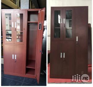 Office Metal Bookshelf With Wardrobe Locker | Furniture for sale in Lagos State, Ojo