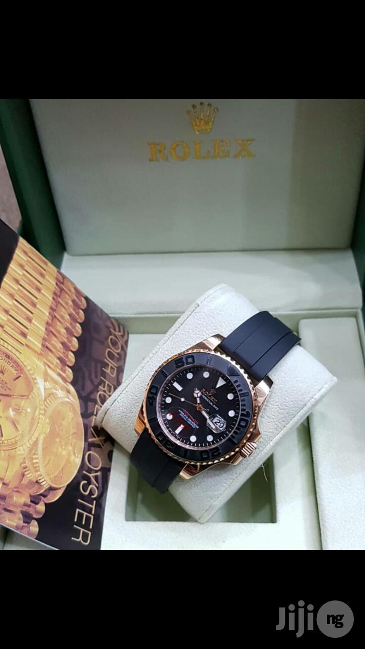 Rolex Oyster Perpetual Day-just Mechanical Engine Rubber Strap Watch