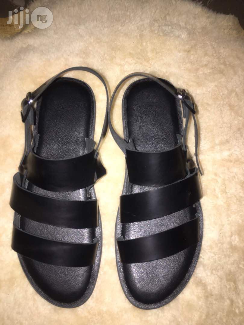 Archive: Adexglobaldesigners Black Sandal for Men