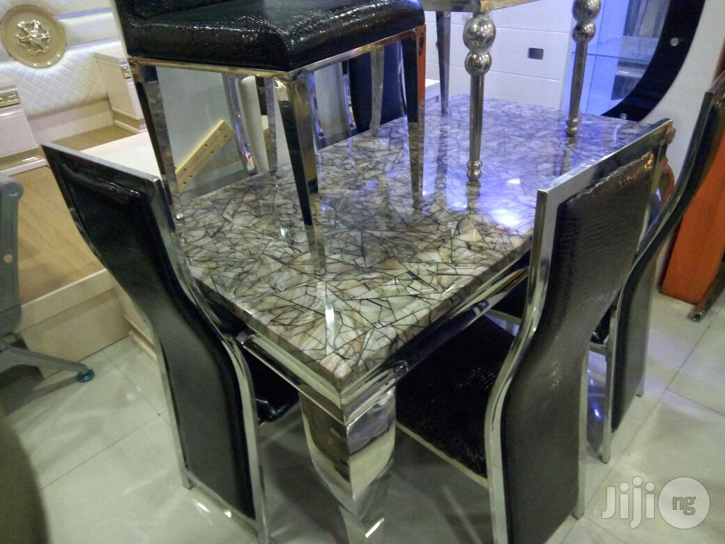 Marble Dining Table With Six Chair