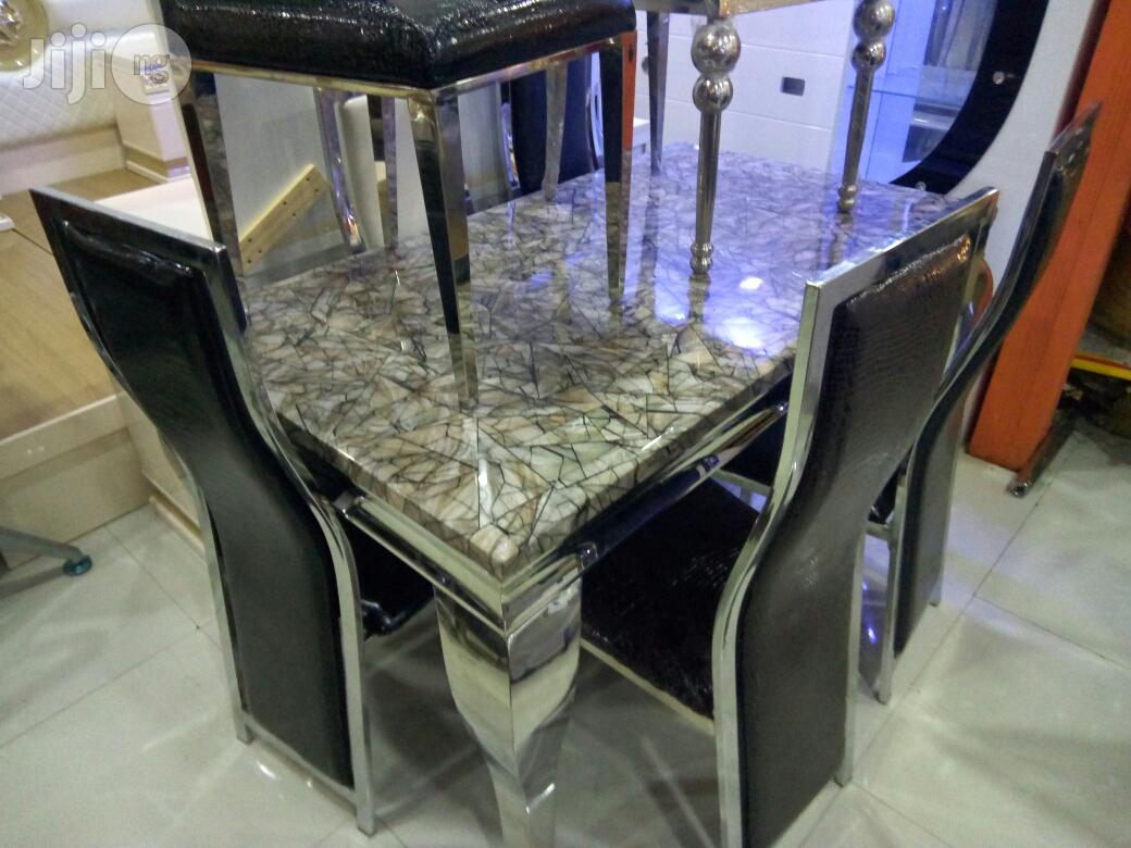 Marble Dining Table With Six Chair   Furniture for sale in Ojo, Lagos State, Nigeria