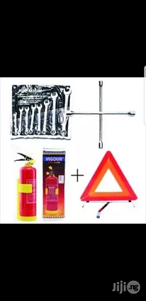 1kg Fire Extinguisher+Wheel Spanner+8pcs Flat & Ring Spanner+C-caution | Safetywear & Equipment for sale in Lagos State, Lagos Island (Eko)