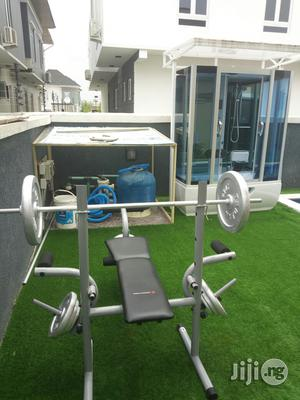Weight Lifting Bench And 50kg Weight | Sports Equipment for sale in Lagos State, Magodo