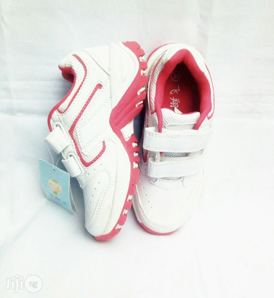 White Canvas for Girls   Children's Shoes for sale in Lagos Island (Eko), Lagos State, Nigeria