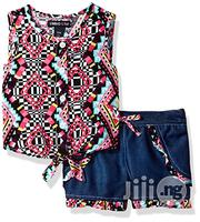 Limited Too‎ Baby Girls' Printed Tie Hem Blouse and Denim Shorts Set | Baby & Child Care for sale in Lagos State