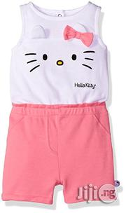 Hello Kitty Baby Girls' Romper- White/Pink | Children's Clothing for sale in Lagos State