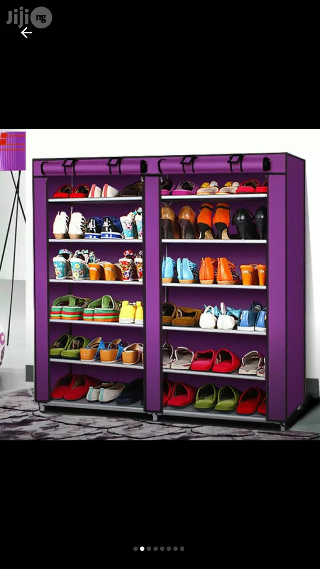 Double Wardrobe Shoes Rack