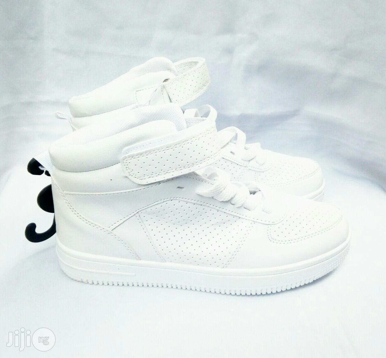 White High Top Canvas   Children's Shoes for sale in Lagos Island (Eko), Lagos State, Nigeria