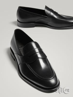 Massimo Dutti - Black Leather Penny Loafers | Shoes for sale in Lagos State, Lagos Island (Eko)