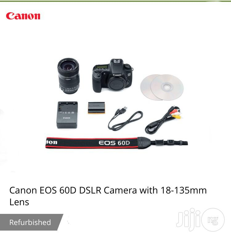 Canon EOS 60D DSLR Camera With 18-135mm Lens | Photo & Video Cameras for sale in Port-Harcourt, Rivers State, Nigeria