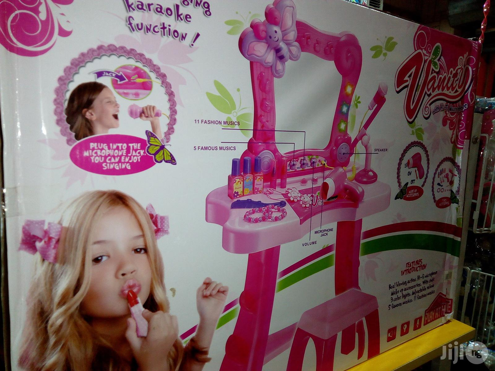 Vanity Play Set Makeup Beauty Set With Hi-fi Microphone | Toys for sale in Yaba, Lagos State, Nigeria