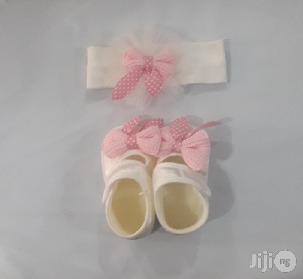 Baby Shoe And Headband   Babies & Kids Accessories for sale in Ajah, Lagos State, Nigeria