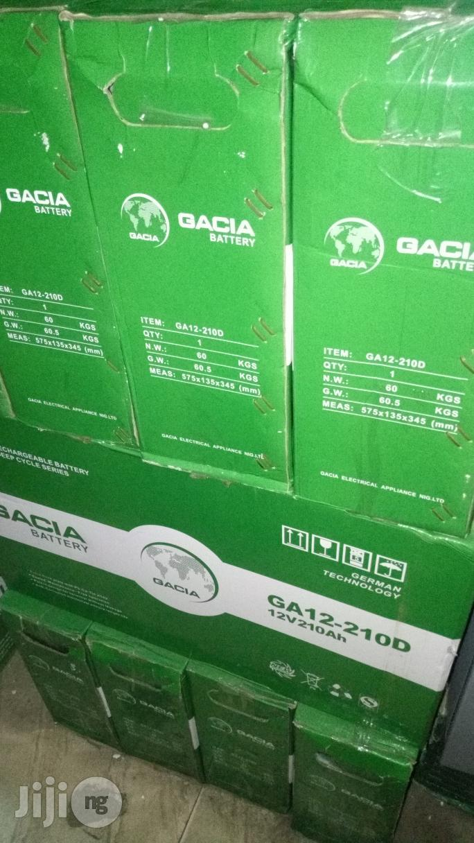 Gacia 210ah 12V Deep Cycle Battery | Solar Energy for sale in Ojo, Lagos State, Nigeria