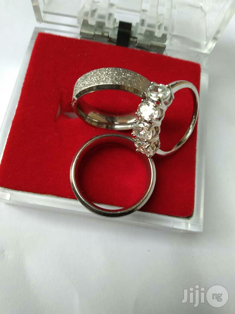 Silver Wedding Ring Set