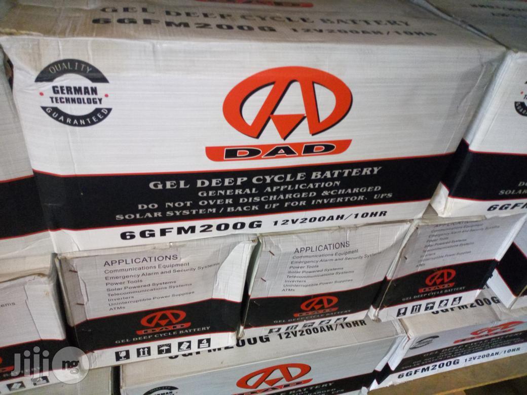 DAD 200ah 12V Gel Deep Cycle Batteries | Solar Energy for sale in Ojo, Lagos State, Nigeria