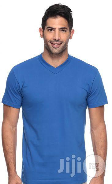 100percent Cotton V-neck Promotional Tee Shirt (Wholesale) | Clothing for sale in Lagos State, Nigeria