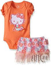 Hello Kitty Baby Girls bodysuit and Tutu Skirt Set Orange Coral Multi | Children's Clothing for sale in Lagos State