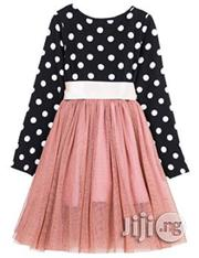 Fashion Baby Girls' Polka Dotted Top Tutu Skirt Dress- Multi | Children's Clothing for sale in Lagos State