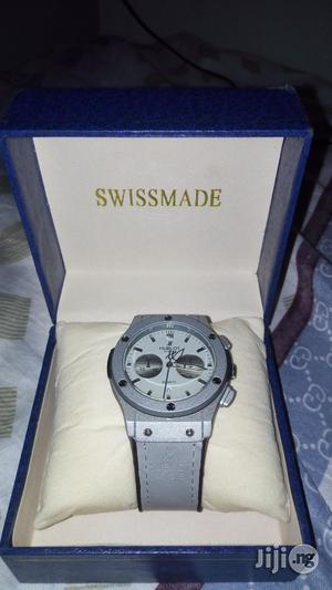 Gray Leather Hublot Wristgear, Big Bang Business Edition | Watches for sale in Lagos State, Oshodi