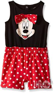 Disney Baby Girls' Minnie Mouse Knit Romper With 3D Bow- Black/Multi | Children's Clothing for sale in Lagos State