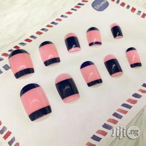 European And Americans 24pcs Printing Painted Full Fake Nail Patch   Makeup for sale in Lagos State, Kosofe