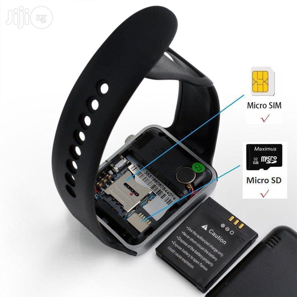 GT08 Bluetooth Smart Watch / Wrist Phone (Phone Watch) | Smart Watches & Trackers for sale in Ikeja, Lagos State, Nigeria