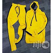 Fashion Hoodie Pullover & Jogger - Yellow & Black | Clothing for sale in Lagos State, Lagos Island