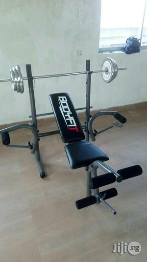 50kg Weight With Bench Press   Sports Equipment for sale in Lagos State, Ikeja