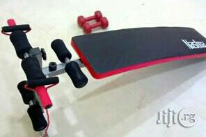 Sit Up Bench With Dumbell for Tummy Trimmer | Sports Equipment for sale in Lagos State, Ikeja