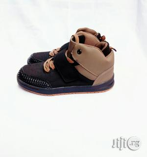Brown and Black High Top Canvas | Children's Shoes for sale in Lagos State, Lagos Island (Eko)