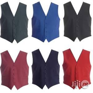 Work Wear Waist Coat With Bow Tie (Wholesale Only)