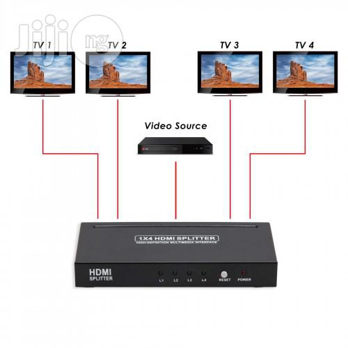 4 Port HDMI 1.3 Splitter Box | Accessories & Supplies for Electronics for sale in Ikeja, Lagos State, Nigeria