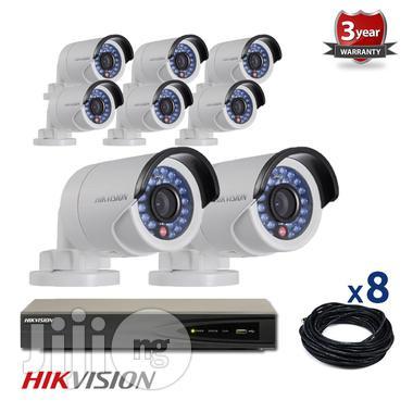 8 IP Hikvision Cameras CCTV Kit, 4mp, IR Night Vision