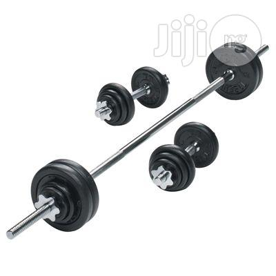 50KG Dumbbell And Barbell Set | Sports Equipment for sale in Wuse, Abuja (FCT) State, Nigeria