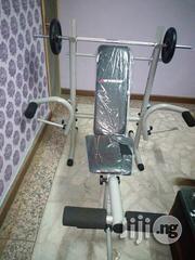 Weigth Bench With 50 Kg Plate and Barbell | Sports Equipment for sale in Cross River State, Calabar