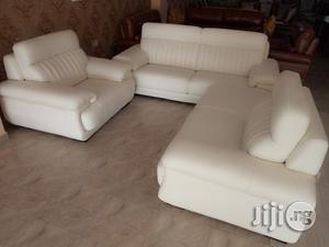 Unique Strong 7 Seater Leather Sofa Chair Imported Brand New | Furniture for sale in Lagos State, Lekki