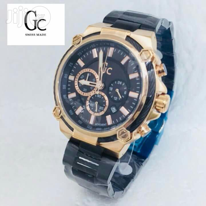 Guess Collection(GC) Chronograph Black/Rose Chain Watch