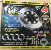 8LED Solar Power Disk Light Ground Lamp | Solar Energy for sale in Lagos State, Apapa