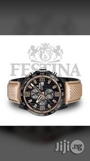 Festina Chronograph Genuine Leather Watch | Watches for sale in Lagos State, Surulere