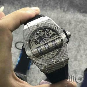 Hublot Automatic Silver Rubber Strap Watch | Watches for sale in Lagos State, Lagos Island (Eko)