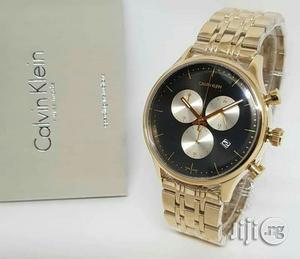 Calvin Klein(Ck) Chronograph Gold Chain Watch   Watches for sale in Lagos State, Lagos Island (Eko)