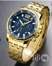 Megir Men's Gold Stainless Steel Quartz Watches | Watches for sale in Oyo State, Ibadan