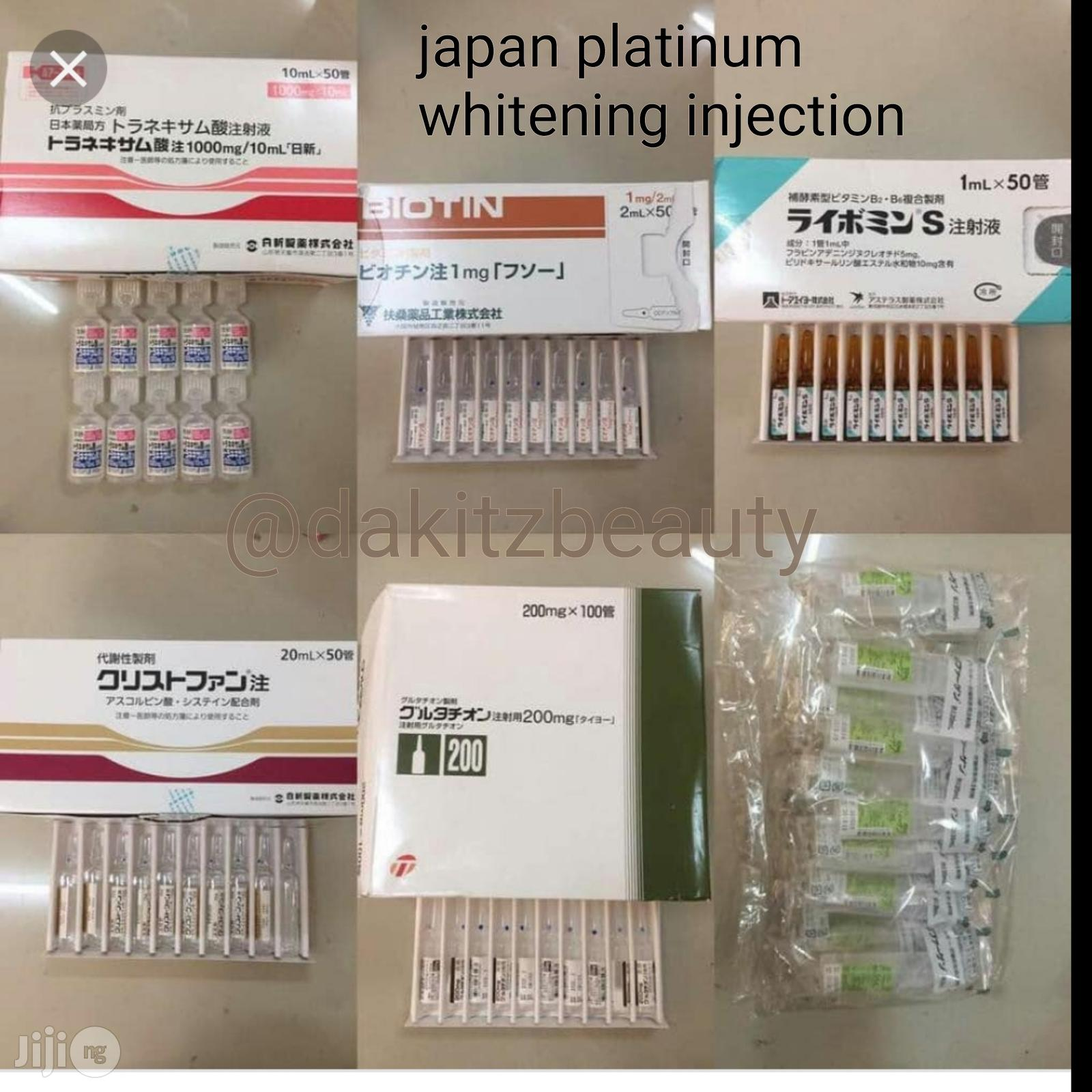 Japanese Platinum Green Full Set Whitening Injection | Vitamins & Supplements for sale in Lagos State, Nigeria