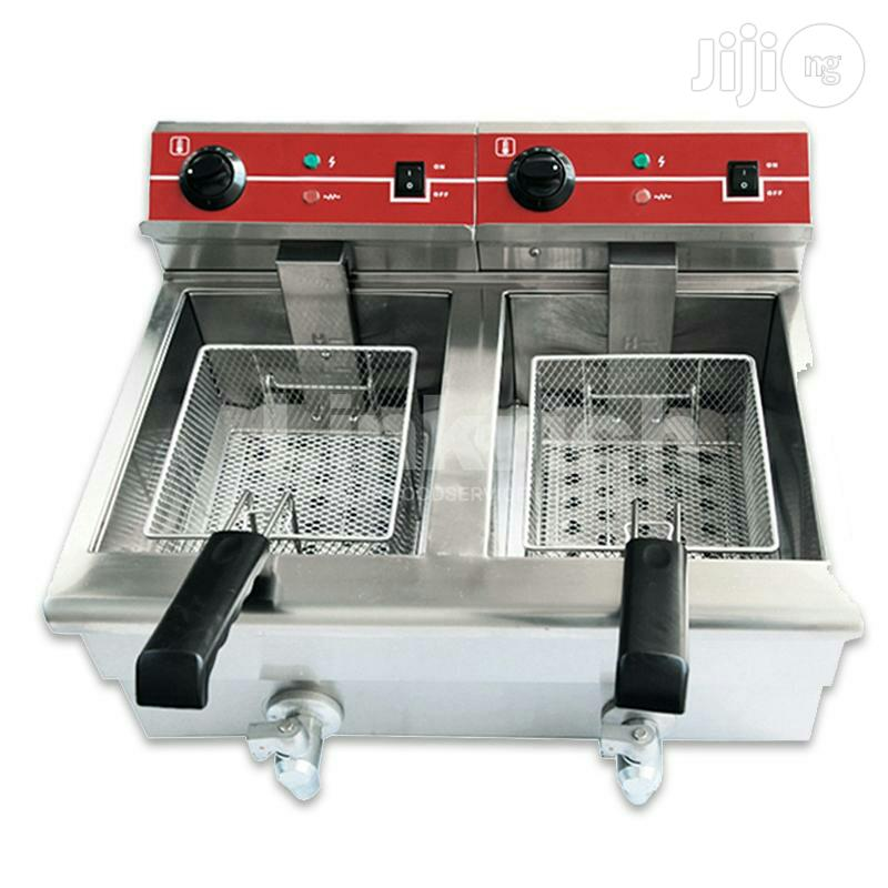 Electric And Gas Deep Fryer With Double Basket