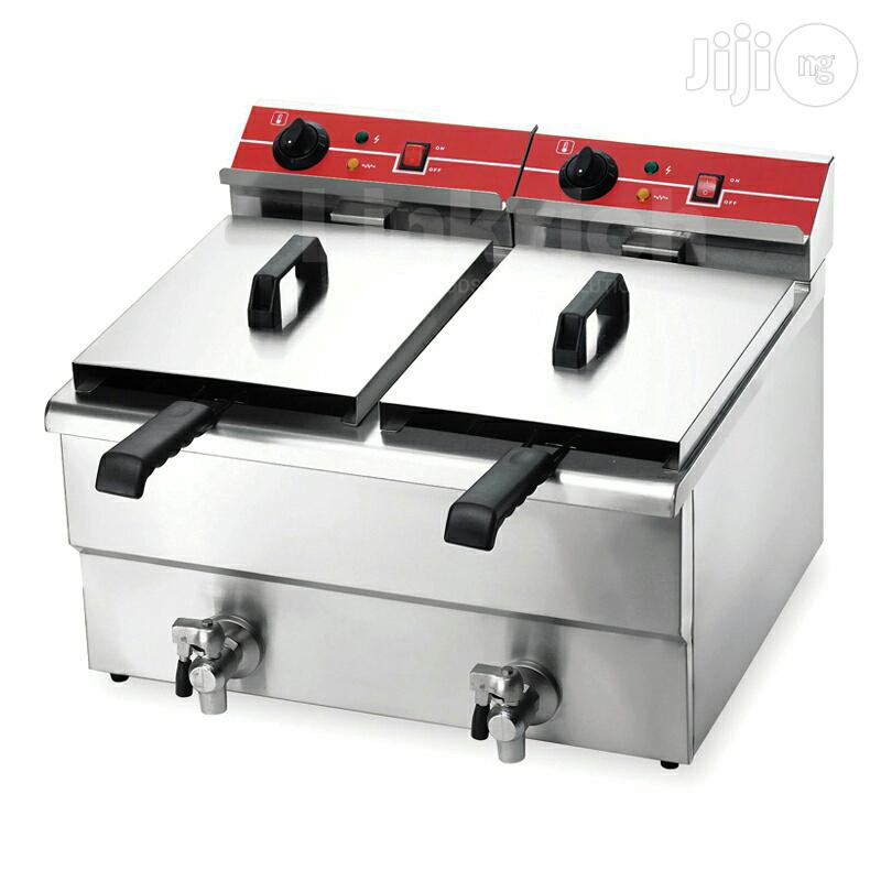 Electric And Gas Deep Fryer With Double Basket | Restaurant & Catering Equipment for sale in Ojo, Lagos State, Nigeria