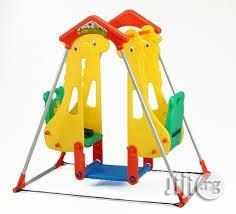 New Double Plastic Swing Set